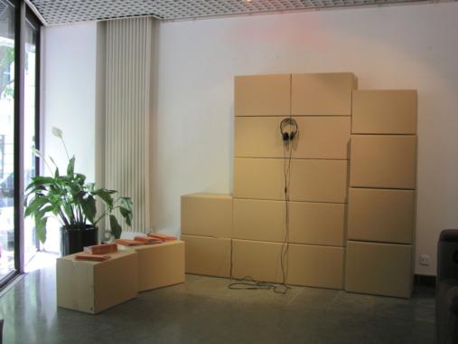 LIVRE audio, 2008. Installation view.
